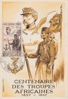 AEF 1957 Carte Maximum PA 62 Centenaire Des Troupes Africaines Faidherbe - Lettres & Documents