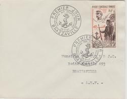 AEF 1957 Cachet 1er Jour PA 62 Centenaire Des Troupes Africaines Faidherbe - Lettres & Documents