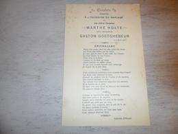 Document ( 389 )  Chanson Zang Lied Huwelijkslied D' Hondt Mariage Huwelijk Hoste - Goetghebeur  Blankenberge 1906 - Vocals