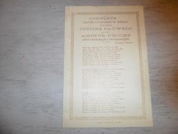Document ( 391 )  Chanson Zang Lied Huwelijkslied D' Hondt Mariage Huwelijk Pauwels - D' Hoore  Blankenberge 1897 - Vocals