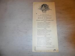 Document ( 392 )  Chanson Zang Lied Huwelijkslied  Mariage Huwelijk D' Hondt - Vermeire  Blankenberge 1900 - Vocals