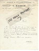 88 - Vosges - MIRECOURT - Facture MASSON - Forge Et Charronnage, Sellerie - 1929 - REF 108A - France