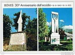 BOVES:  30°  ANNIVERSARIO  DELL'  ECCIDIO  19-9-1943/1973  -  ANNULLO  DELLA  MANIFESTAZIONE  -  FG - Manifestazioni
