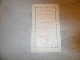 Document ( 396 )  Chanson Zang Lied Huwelijkslied Braet /Pauwels Mariage Huwelijk Hoste - Goetghebeur Blankenberge 1900 - Musica & Strumenti