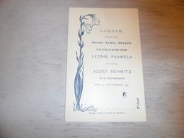 Document ( 398 )  Chanson Zang Lied Huwelijkslied Brulez Mariage Huwelijk Pauwels - Schmitz  Blankenberge 1900 - Musica & Strumenti