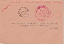 Cameroun Lettre Administrative De 1995 En Franchise Pour La France - Kameroen (1960-...)