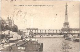 """Dépt 75 - PARIS (16è Arr.) - Viaduc Du Métropolitain à Passy - (""""train De Plaisir - Charles DAGNELIE, THUIN Belgique"""") - Arrondissement: 16"""
