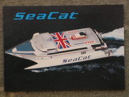 HOVERSPEED SEACAT CATAMARAN HOVERSPEED GREAT BRITAIN - SALMON CARD - Ferries
