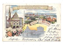 OBER-SCHLESIEN - NEISSE / NYSA, Gruss Aus Lithographie 1899, Einriss - Schlesien