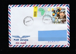 Z3] Enveloppe Circulée Circulated Cover Togo Chauve-souris Bat - Bats