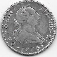 Espagne - 1 Réal - 1773 - Argent - [ 1] …-1931 : Royaume