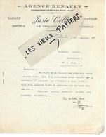88 - Vosges - LE THILLOT - Facture COLLIN - Garage - Agent RENAULT - 192? - REF 108A - 1900 – 1949