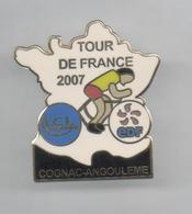 PINS PIN'S VELO CYCLISME TOUR DE FRANCE EDF LCL COGNAC ANGOULEME - Cyclisme