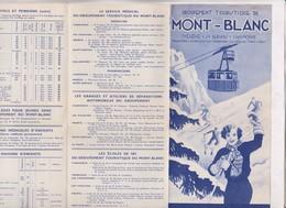 DEPLIANT  TOURISTIQUE  MONT BLANC SPORTS D HIVER 1936/1937 - Dépliants Touristiques