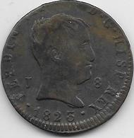 Espagne - 8 Maradevis - 1823 - Cuivre - [ 1] …-1931 : Royaume
