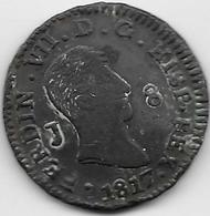 Espagne - 8 Maradevis - 1817 - Cuivre - Ondulation - [ 1] …-1931 : Royaume