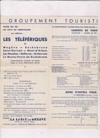DEPLIANT  TOURISTIQUE  MONT BLANC SPORTS D HIVER 1936/1937 HORAIRES TRANSPORTS DIVERS - Dépliants Touristiques