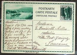 """Schweiz Suisse 1931: Bild-PK / CPI """"STEIN-SÄCKINGEN"""" Mit Stempel CHARMOILLE 23.I.31 Nach Lausanne - Interi Postali"""
