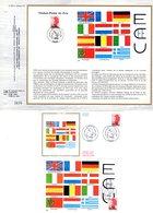 """"""" L'ECU """" Sur LOT (Feuillet CEF + Enveloppe 1er Jour + Carte Maximum) De 1988 De FRANCE. N° YT 2530 Parfait état FDC CM - Monete"""