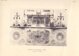 Bijlage Tijdschrift Vers L'Art 1909 - Project Du Concours - 1er Prix - Architecte Mr Mathys - Vieux Papiers