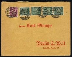 A5682) DR Infla Ortsbrief Bis 100g Berlin 1.7.23 Mit 2 Marken Perfin - Briefe U. Dokumente