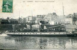 N°2504 A -cpa Lorien -départ D'un Vapeur Port Louisien- - Commerce