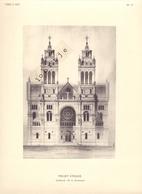 Bijlage Tijdschrift Vers L'Art 1909 - Project D'Eglise - Architect Mr A. Groothaert - Vieux Papiers