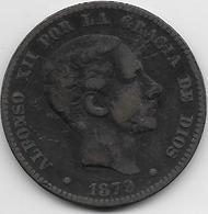 Espagne - 10 Centimos - 1879 OM - Cuivre - [ 1] …-1931 : Royaume