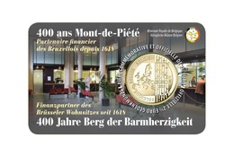 Belgie 2018   2,50 Euro  400 Ans Mont-de-Piété     Version (texte) Français Sur Le Coincart   Extreme Rare !!! - Bélgica