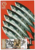 Postal Máximo Industria Conserveira Portugal Olhão Algarve Peixe Poisson Fish Fisch Pescado Sardinha Sardine Fauna - Cartes-maximum (CM)