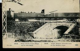 1914: Train Blindé Anglo-Belge Sur La Côte Belge  écrite De Paris Le 31/12/1922 - Autres