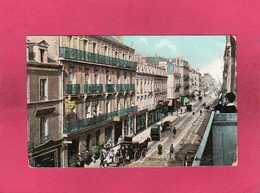 44 Loire Atlantique, St-Nazaire, La Rue Ville-ès-Martin, Animée, Colorisée, Calèche, (Delaveau) - Saint Nazaire