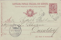 ITALIE  1904 ENTIER POSTAL/INTERI POSTALI  CARTE SANS LA REPONSE DE ROME - 1878-00 Humbert I