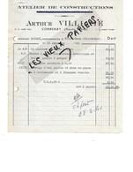 70 - Haute-saône - CORBENAY - Facture VILLIAME - Ateliers De Constructions - 1960 - REF 108B - France