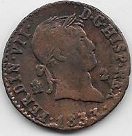 Espagne - 2 Maradevis - 1833 - Cuivre - [ 1] …-1931 : Royaume