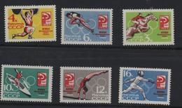 RUSSIE N° 2843./2848 ** - HIPPISME - HALTEROPHILIE - SAUT - CANOE - BARRE - ESCRIME - Summer 1964: Tokyo