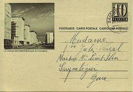 """Schweiz Suisse 1963: Bild-PK / CPI  """"LA CHAUX DE FONDS Métropole De L'horlogerie"""" O SAIGNELÉGIER 28.I.63 - Envoi Locale - Horlogerie"""