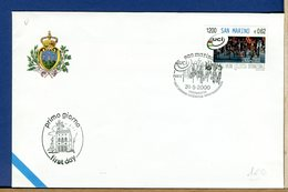 SAN MARINO - FDC 2000 - CENTENARIO UNIONE CICLISTICA INTERNAZIONALE     CYCLE VELO - Ciclismo