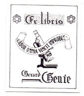 Ex Libris - Labor Omnia Vincit Improbus - Gerard Genie - Ex-libris