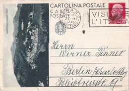 ITALIE  1937  ENTIER POSTAL/INTERI POSTALI  CARTE ILLUSTREE DE MERANO - 1900-44 Victor Emmanuel III