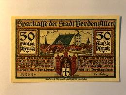 Allemagne Notgeld Berden 50 Pfennig - [ 3] 1918-1933 : Weimar Republic