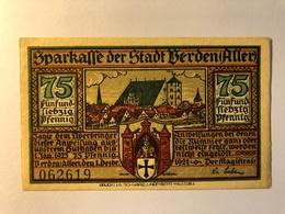 Allemagne Notgeld Berden 75 Pfennig - [ 3] 1918-1933 : Weimar Republic