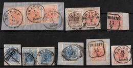 "Ausg. 1850, Luxus-Lot "" Triest "" Stempel!,  #a1250 - 1850-1918 Empire"