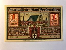 Allemagne Notgeld Berden 1 Mark - [ 3] 1918-1933 : Weimar Republic