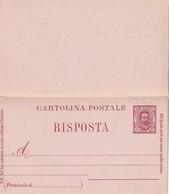ITALIE    ENTIER POSTAL/INTERI POSTALI  CARTE AVEC REPONSE - 1878-00 Humbert I