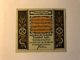 Allemagne Notgeld Tonndorf 20 Pfennig - [ 3] 1918-1933 : Weimar Republic