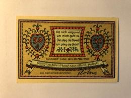 Allemagne Notgeld Tonndorf 50 Pfennig - [ 3] 1918-1933 : Weimar Republic