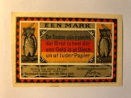 Allemagne Notgeld Tonndorf 1 Mark - [ 3] 1918-1933 : Weimar Republic