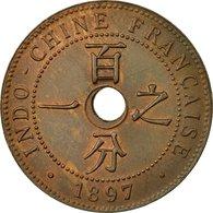 Monnaie, FRENCH INDO-CHINA, Cent, 1897, Paris, TTB+, Bronze, KM:8, Lecompte:52 - Colonies