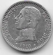 Espagne - 50 Centimos - 1910 - Argent - [ 1] …-1931 : Royaume